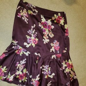 100% silk floral skirt-The Limites